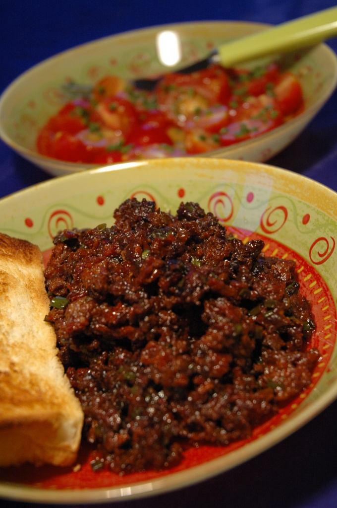 Delicious, spicy meat dish.