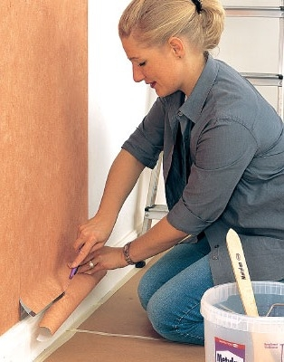 How to apply Wallpaper to the paint