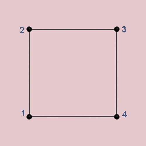 Как нарисовать квадрат, не отрывая руки