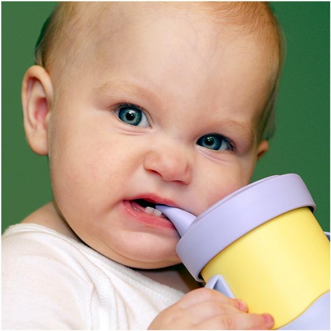 При прорезывании зуба ребенок тянет в рот все подряд