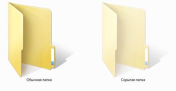 Как открыть скрытые папки и файлы