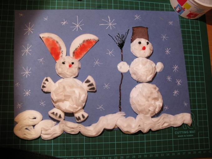 Поделка зимняя своими руками для детского сада