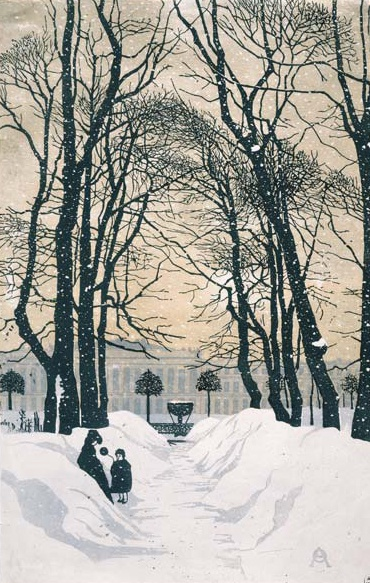 Как нарисовать деревья зимой