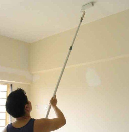 Как смыть краску с потолка