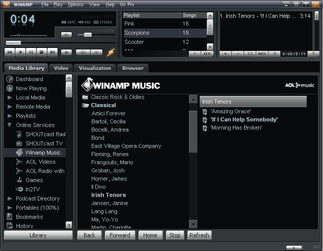 How to listen to radio through Winamp