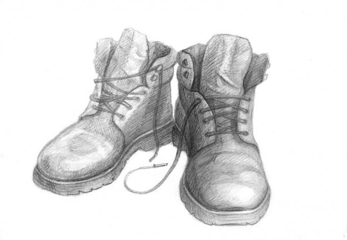 Как нарисовать обувь