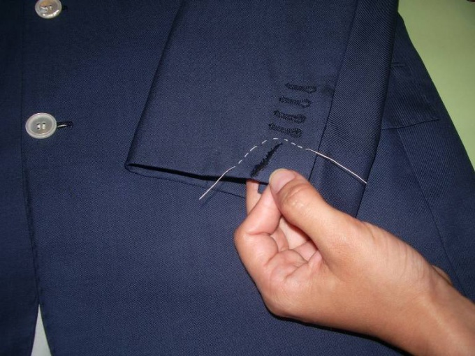 How to sew up the hole