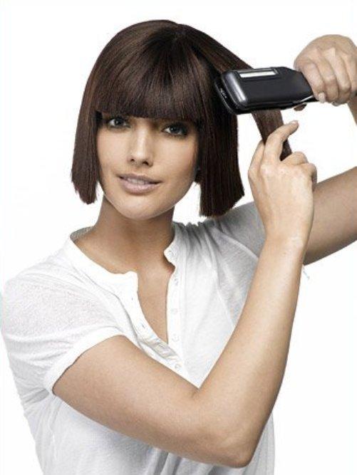 Как выпрямить короткие волосы