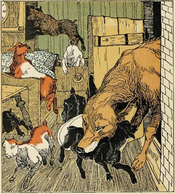 Как нарисовать волка и козлят