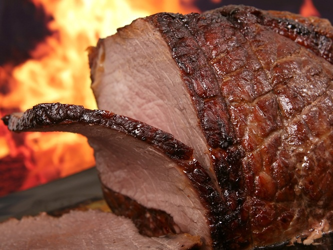 Как запечь кусок говядины