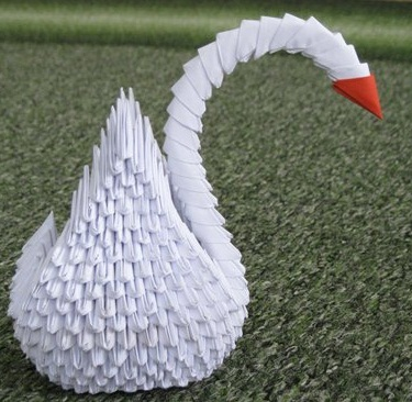 Как сделать модульного лебедя