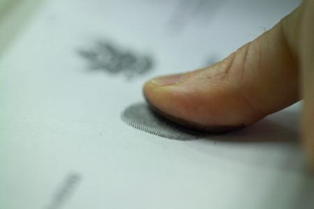 Как сделать отпечаток пальца