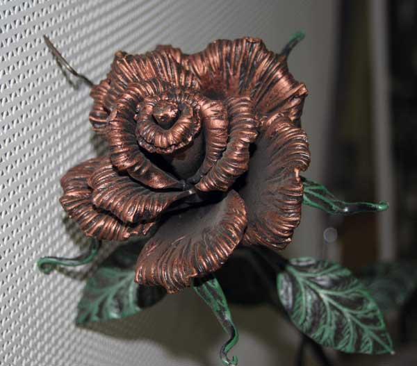Как ковать розу