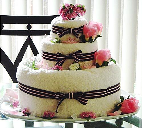 Как сделать торт из полотенец