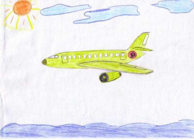 Как нарисовать самолетик