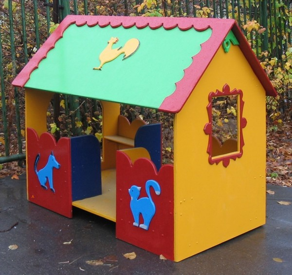 Домик в детском саду своими руками фото