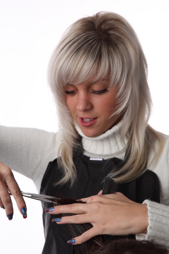 How to cut thinning shears