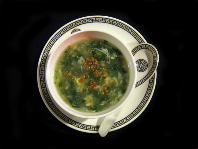 How to cook green soup
