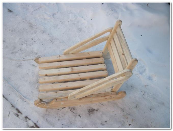 Как сделать деревянные санки