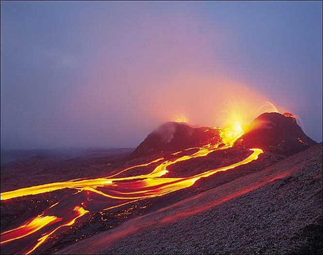 Как нарисовать вулкан