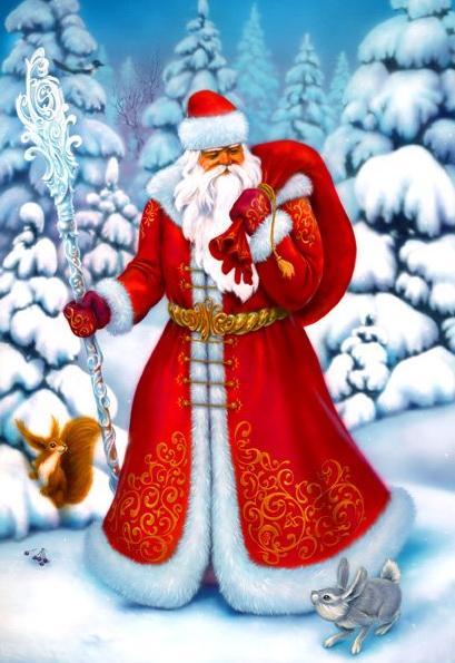 Как научиться рисовать Деда Мороза