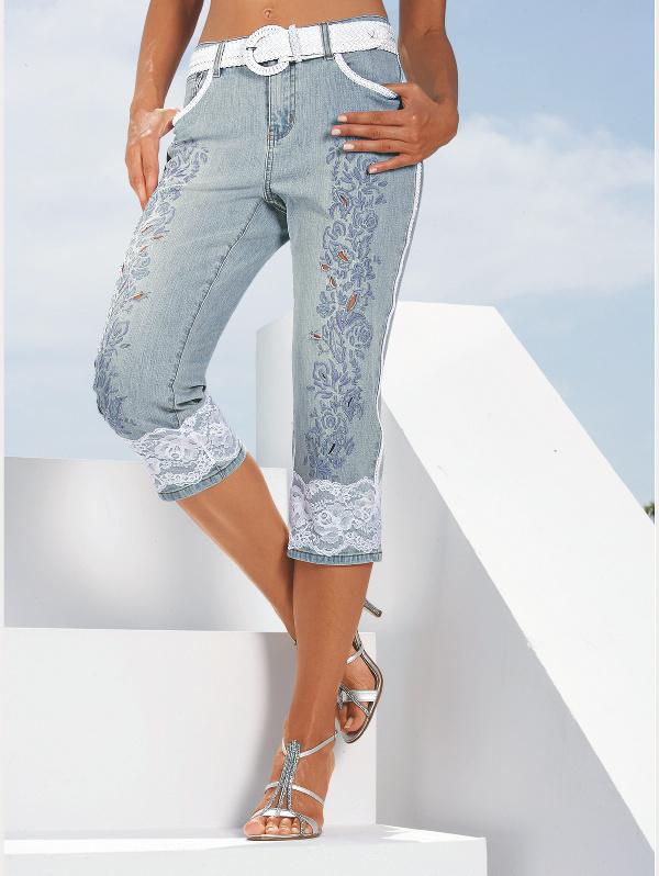 Как из джинс сделать модные бриджи