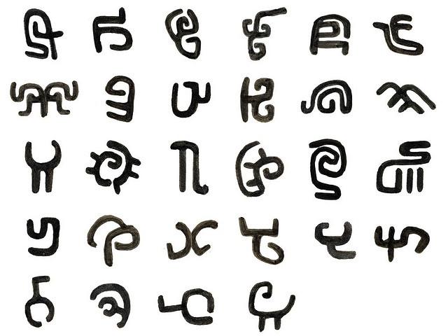 Как писать разными символами