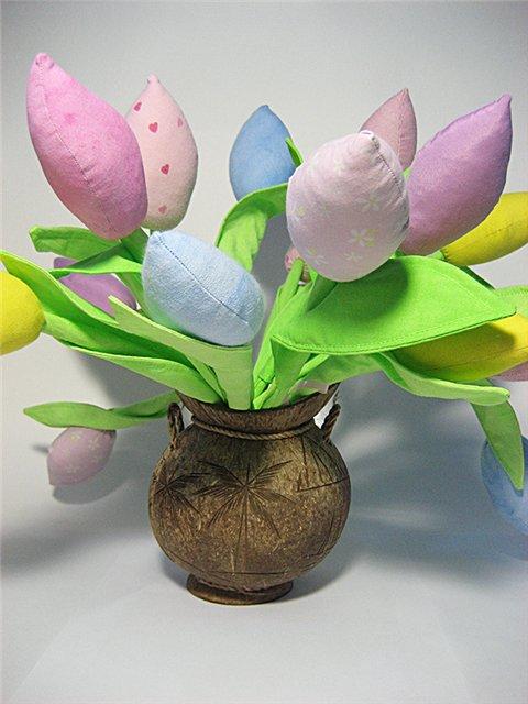 Как шить тюльпан