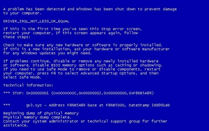 Как исправить ошибку синий экран