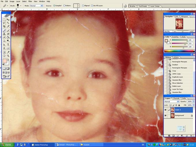 Как отретушировать фото в фотошопе
