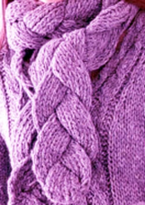 Как связать объемный шарф