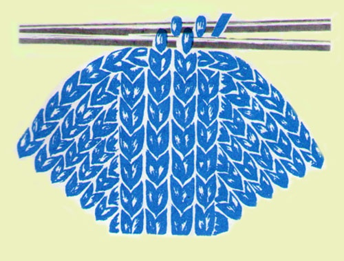 Как закончить вязание носка