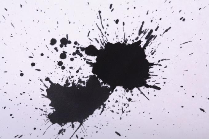 Как удалить пятнышка от чернил