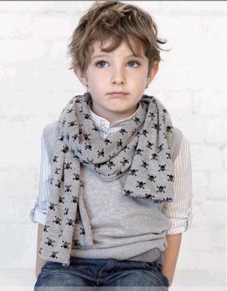 Как связать детские шарфики