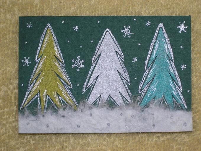 Как нарисовать открытку к Новому году