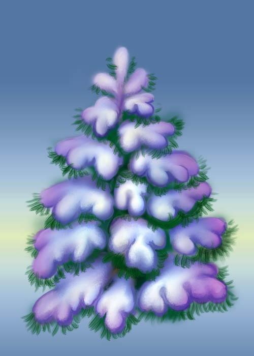 Как нарисовать красиво елку