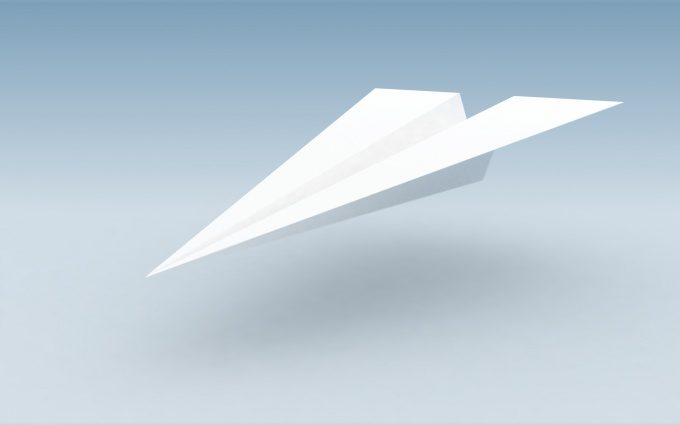 Как сложить самолет из бумаги
