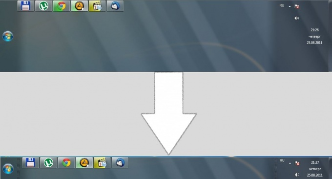 How to lower down the control panel