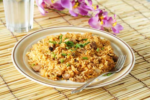 Как приготовить рис жареный