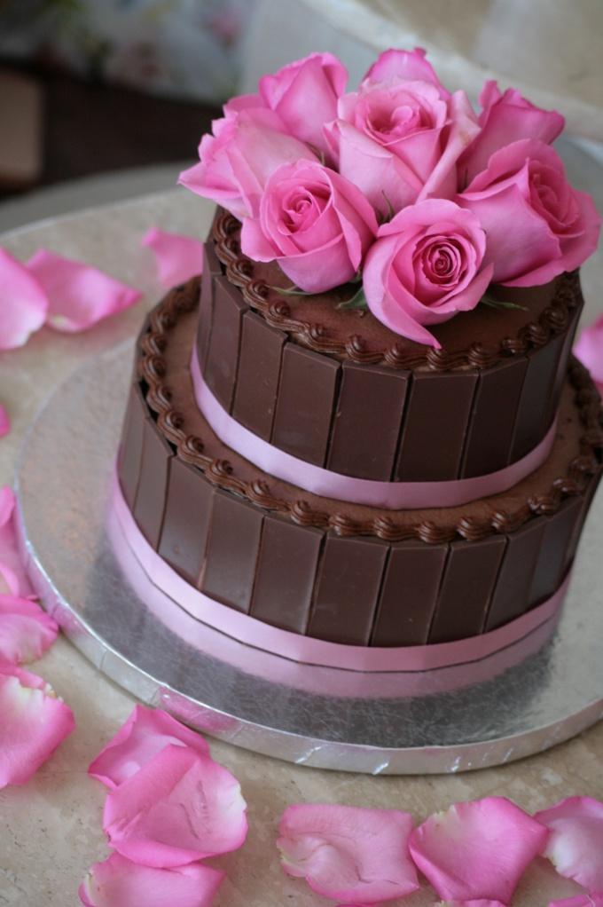 Как делать на торт розы