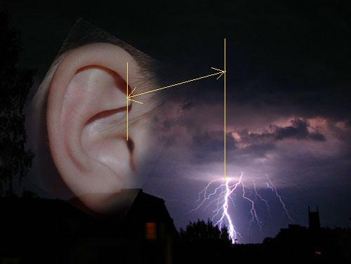 Как определить, на каком расстоянии от вас ударила молния