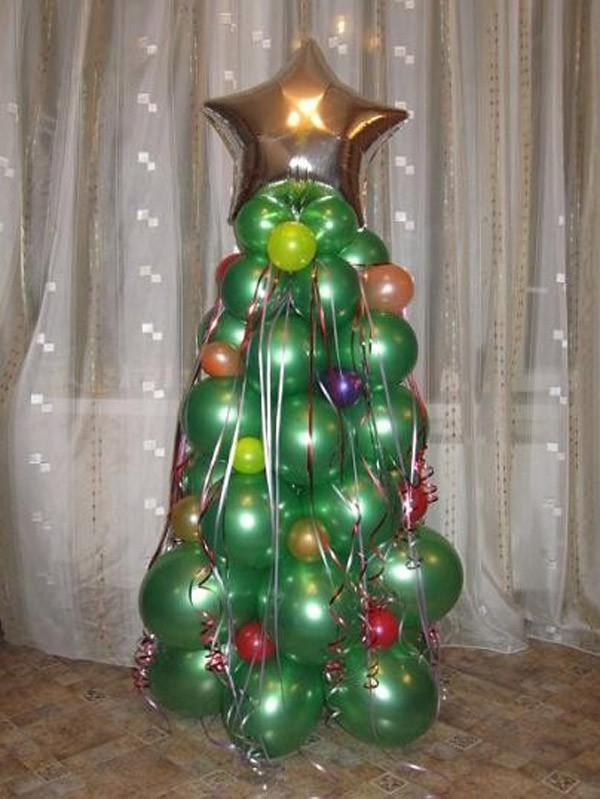 Как сделать елку из шаров