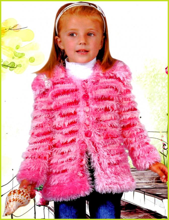 Как связать детское пальто