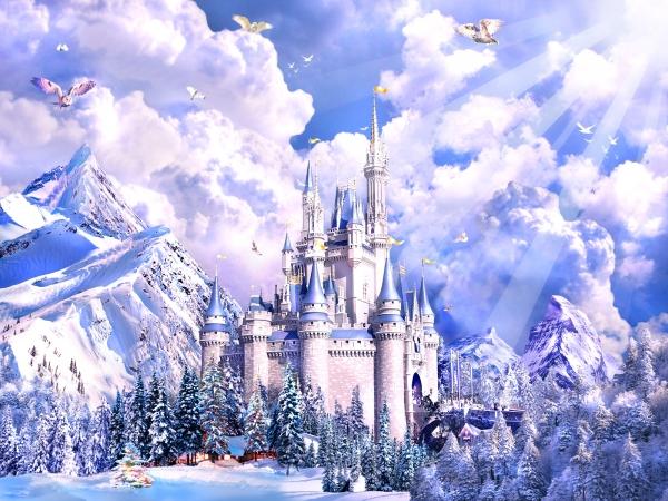 Как нарисовать замок Снежной Королевы