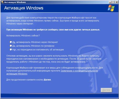 Как активировать систему Windows