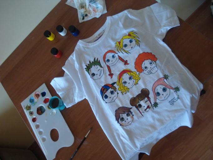 Рисунки на футболках в домашних условиях 704