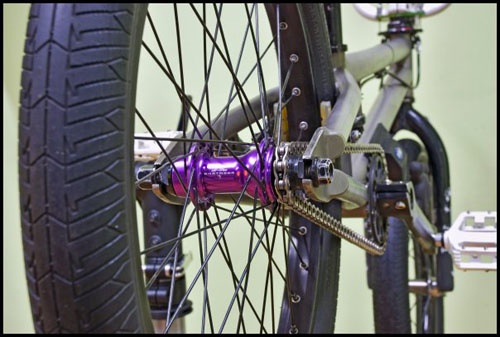 How to put the wheel on the bike