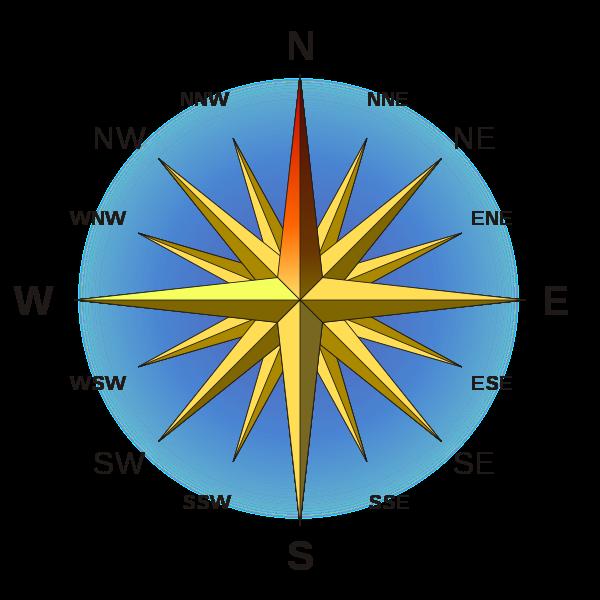 Как определить азимут компасом
