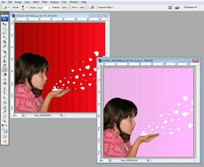 Как поменять цвет фона