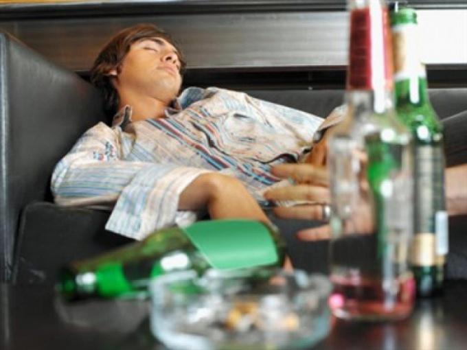 How to Wake drunken man